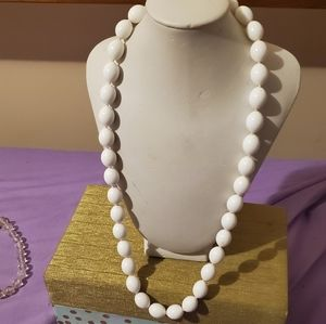 FREE W PURCHASE*egg lucite vintage 1970s necklace